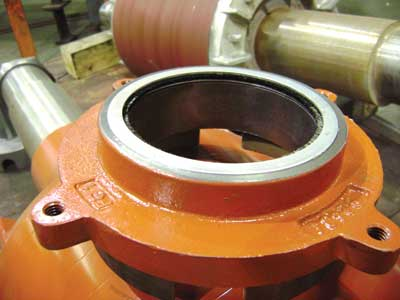 Figure 5: For internal installation, the grounding ring is often mounted in a bearing retainer.