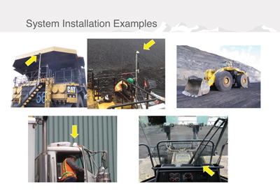 The SAFE mine system is easily installed on any vehicle.