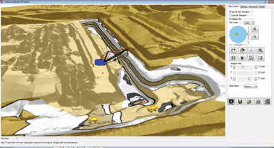 A dragline pit rendering from Carlson 2014.