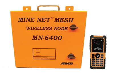 American Mine Research's new MineNet Mesh System offers completely wireless tracking, communications and atmospheric monitoring.