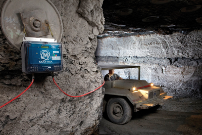 Set for release in 2014, Matrix's MX3 offers a mine-wide communications system with voice and text communications, as well as tracking, atmospheric monitoring and control systems.