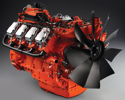 Scania's Tier 4f engine design includes EGR. (Photo courtesy of Scania)
