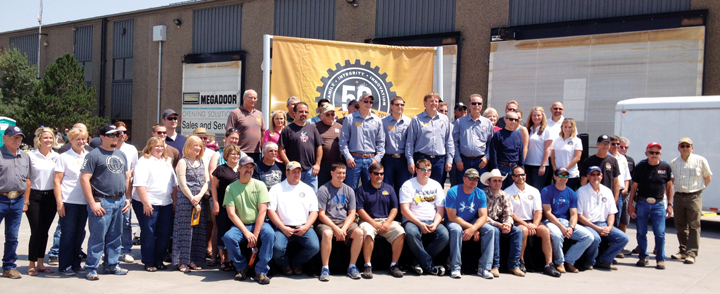 More than 1,000 people gathered to the celebrate L&H Industrial's 50th anniversary with its employees (above) in Gillette, Wyoming, during July.