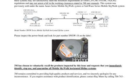 3M Recalls Lifeline System