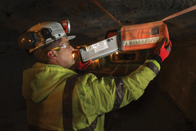 Strata installing the CommTrac system at a mine.