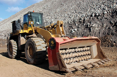 Screener-Crusher Attachment Turns Loaders into Processing Machines