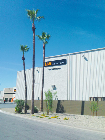 L&H Industrial's Tempe, Arizona, gear fabrication shop.