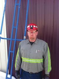 The JB1 Slide and its inventor, Bear Run mine equipment operator Jason Bradbury.