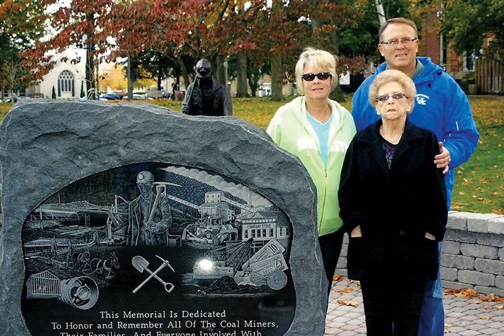 The memorial fund was organized by Arthur 'Sam' Bennett; he attended the unveiling with his mother Wilma and sister Debra Bennett Brown.