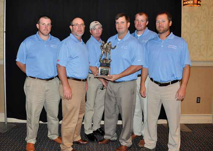 The first place honor for Day 1 mine rescue goes to the Shoal Creek Red Team.