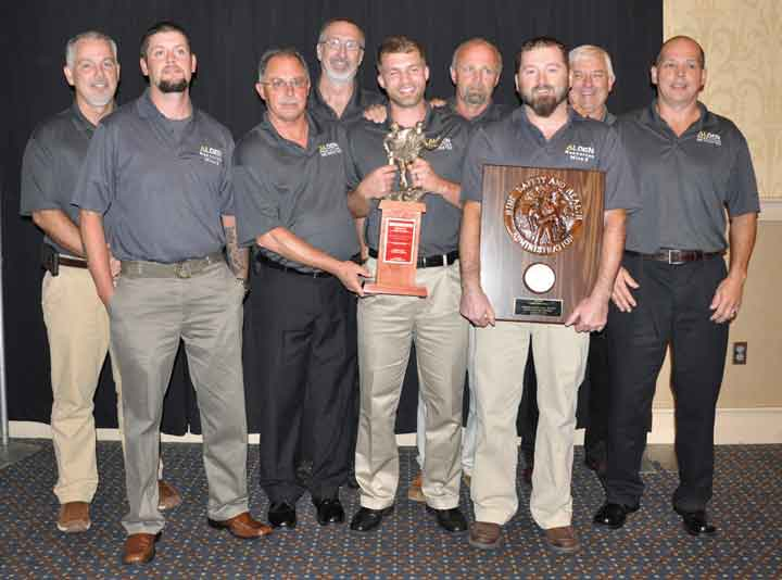 The southeast Kentucky Team takes gold in the mine rescue combination division.
