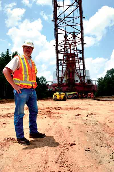 Luminant heavy-equipment relocations manager Brad Gadt assisted with logistics during the transport of Luminant's D-32 dragline from the Beckville mine to the new Liberty mine.