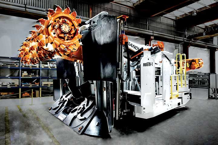 The latest in Sandvik's miner-bolter equipment line, the MB670-1.