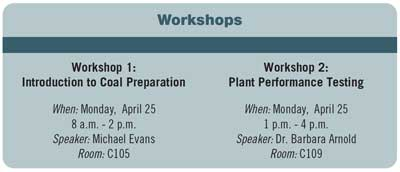 Coal Prep 2016 workshops