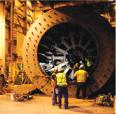The evaluation process parallels the procedures used to identify the causes of excessive maintenance costs. As the maintenance plan is carried out, progress is determined with continuing evaluations until cost reduction objectives are met. (Photo: Barrick Gold)