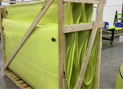 HardLine is easier to ship and store, and makes creating a specialized ducting system easier for operations.